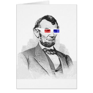 Lincoln in 3D! Greeting Card