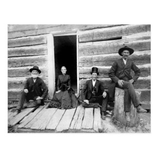 Lincoln Logs, 1891 Postcard