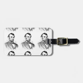 lincoln love luggage tag