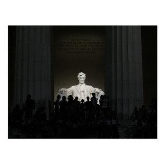 Lincoln Memorial at Night Postcard