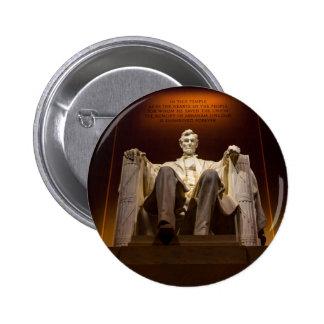 Lincoln Memorial At Night - Washington D.C. 6 Cm Round Badge