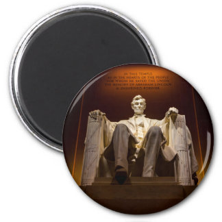 Lincoln Memorial At Night - Washington D.C. 6 Cm Round Magnet