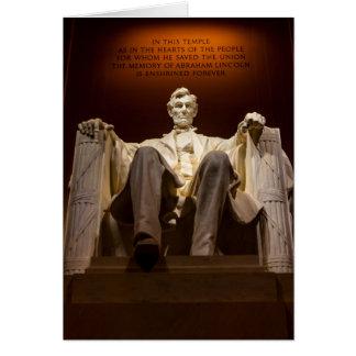 Lincoln Memorial At Night - Washington D.C. Card