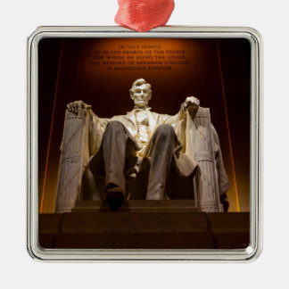 Lincoln Memorial At Night - Washington D.C. Metal Ornament