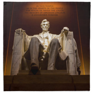 Lincoln Memorial At Night - Washington D.C. Napkin