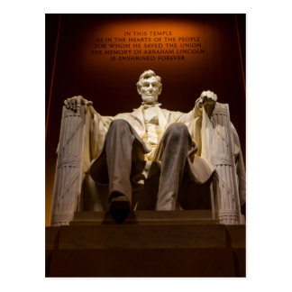 Lincoln Memorial At Night - Washington D.C. Postcard