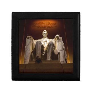 Lincoln Memorial At Night - Washington D.C. Small Square Gift Box