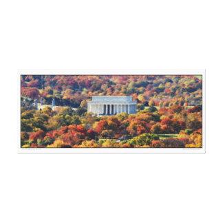 Lincoln Memorial- Autumn- Panoramic Canvas Print