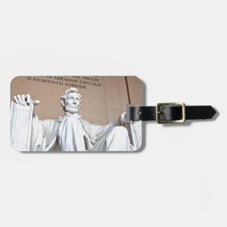 Lincoln Memorial Bag Tag