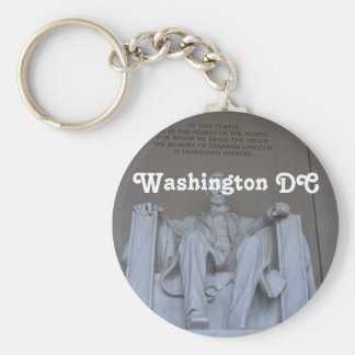 Lincoln Memorial Basic Round Button Key Ring
