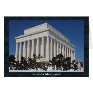 Lincoln Memorial Card