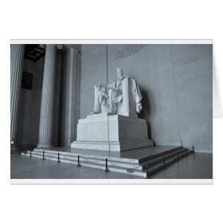 Lincoln Memorial in Washington DC Card