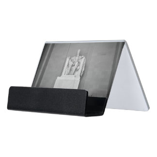 Lincoln Memorial in Washington DC Desk Business Card Holder