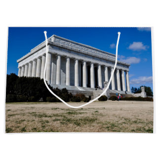 Lincoln Memorial in Washington DC Large Gift Bag