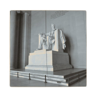 Lincoln Memorial in Washington DC Maple Wood Coaster