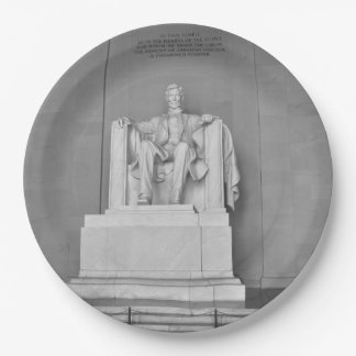 Lincoln Memorial in Washington DC Paper Plate