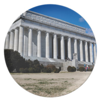 Lincoln Memorial in Washington DC Plate