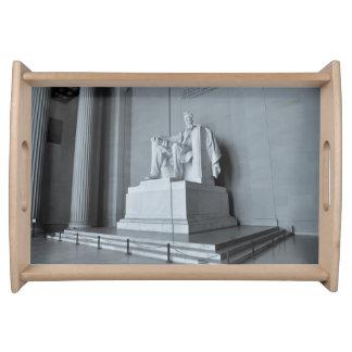 Lincoln Memorial in Washington DC Serving Tray