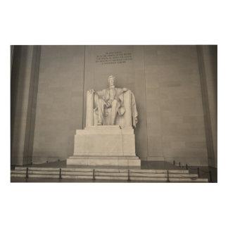 Lincoln Memorial in Washington DC Wood Print