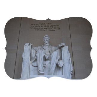 Lincoln Memorial 5x7 Paper Invitation Card