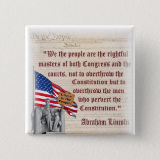 Lincoln Memorial - Listen to the People! 15 Cm Square Badge