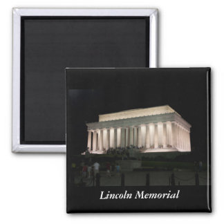 Lincoln Memorial, Washington DC Square Magnet