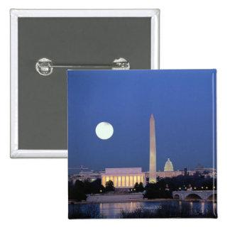 Lincoln Memorial, Washington Monument, US 15 Cm Square Badge