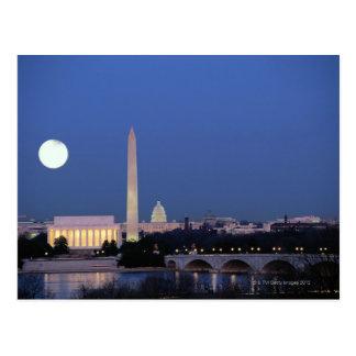 Lincoln Memorial, Washington Monument, US Postcard