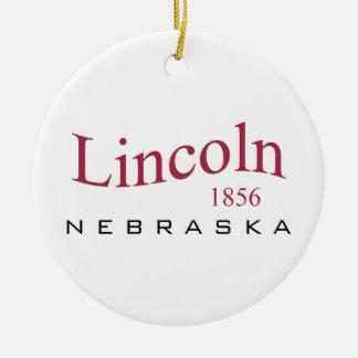 Lincoln, NB - 1856 Ceramic Ornament