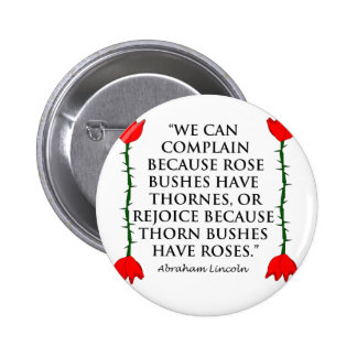 Lincoln on Thornes and Roses Two Roses Pins