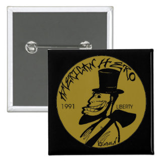 Lincoln Penny From Hell Pinback Button