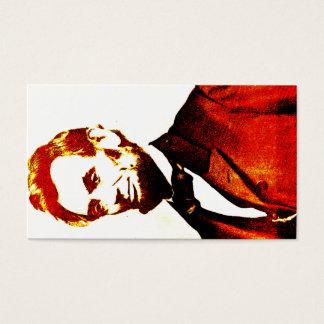 Lincoln Pop Art Colorized Sideways Portrait Business Card