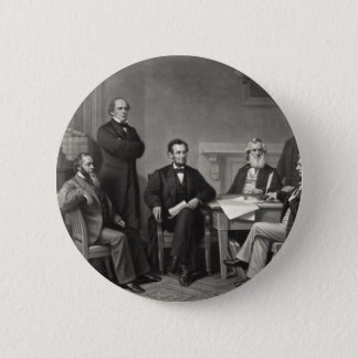 Lincoln Reading the Emancipation Proclamation 6 Cm Round Badge
