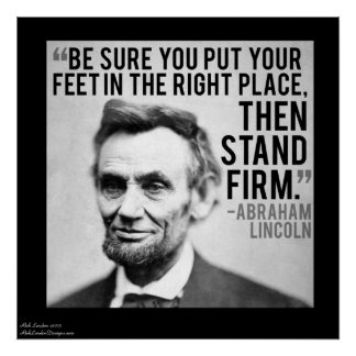 Lincoln & Stand Firm Quote Poster