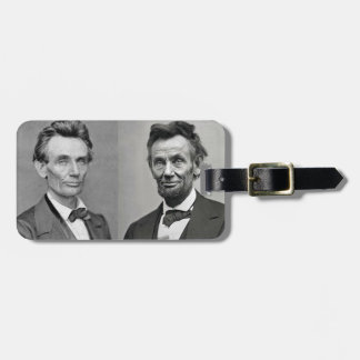 Lincoln With and Without a Beard Bag Tag