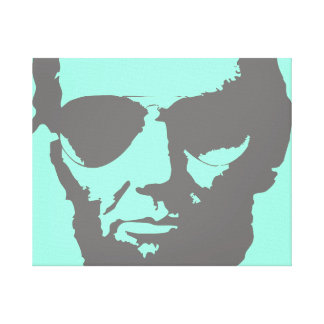 Lincoln with Aviator Sunglasses - Gray Canvas Print