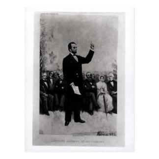 Lincoln's Address at Gettysburg, 1895 Postcard