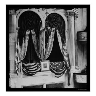 Lincoln's Box at the Ford Theater 1865 Poster