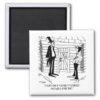 Lincoln's Fire Trap Refrigerator Magnets