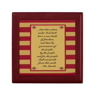 LINCOLNS GETTYSBURG ADDRESS EXCERPT JEWELRY BOX