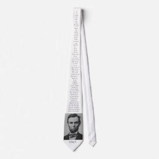 Lincoln's Gettysburg Address Tie