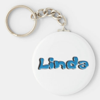 Linda Basic Round Button Key Ring