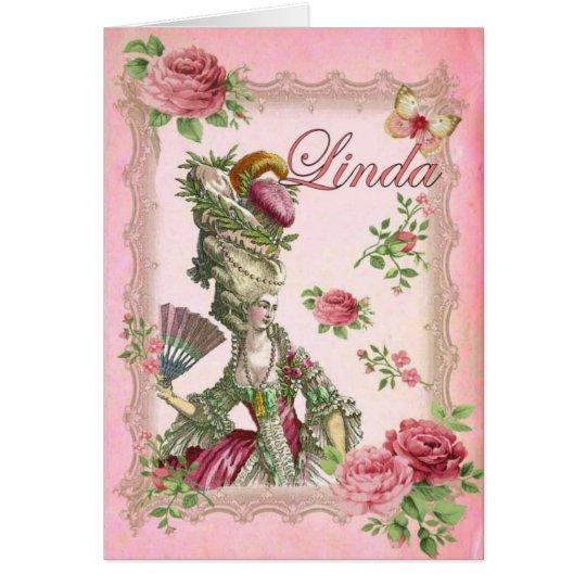 linda roses card
