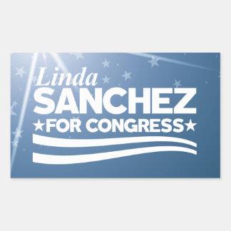 Linda Sanchez Rectangular Sticker
