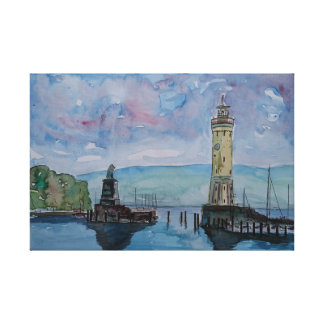 Lindau at Lake Constance in Germany Canvas Print