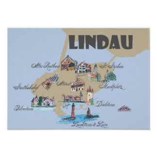 Lindau highlights map poster