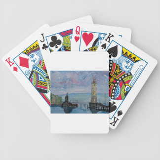 Lindau with Lion and Lighttower on Lake Constance Bicycle Playing Cards