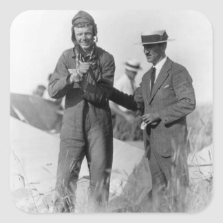 Lindbergh and Wright - Wrecked Plane Stickers