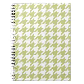 Linden Green Houndstooth Notepad Notebook