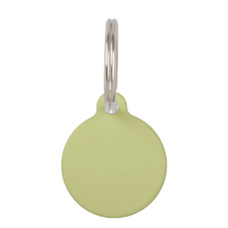 Linden Green Premium Single Color Pet ID Tag